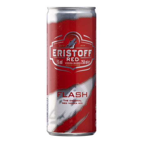 ERISTOFF RED FLASH CANS 24X25CL PROMO