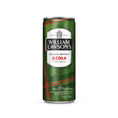 WILLIAM LAWSON'S & COLA CANS 24X25CL PROMO