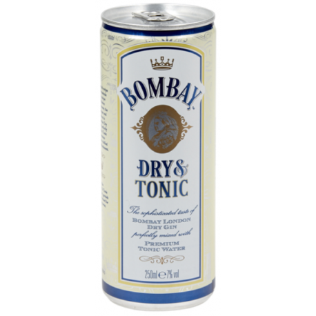 BOMBAY DRY GIN & TONIC CANS 24X25CL