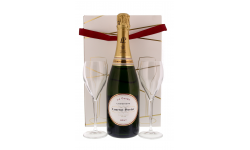 LAURENT-PERRIER LA CUVEE 75CL + 2 VERRES